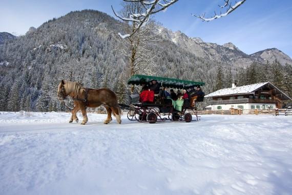 Pferdeschlittenfahr in Berchtesgaden