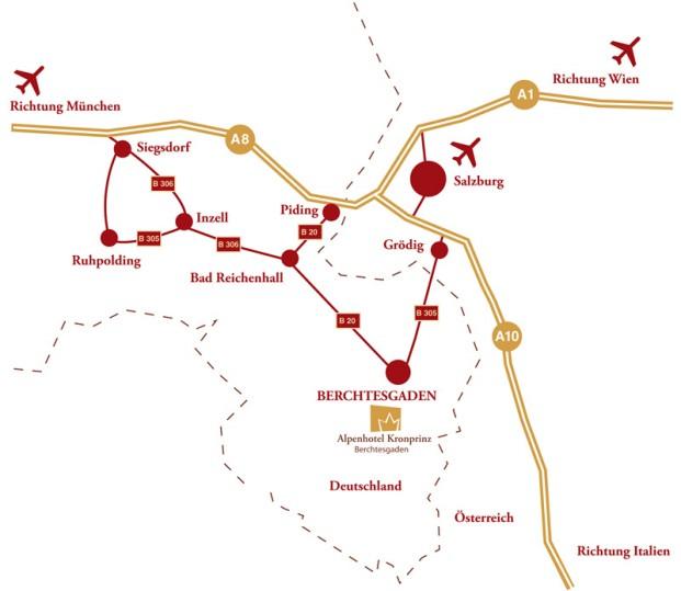 Anreise ins Hotel Kronprinz Berchtesgaden